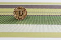 Pièce de monnaie de Bitcoin photos libres de droits