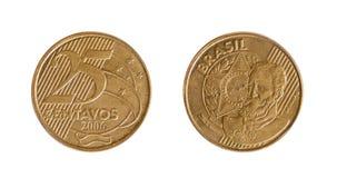 Pièce de monnaie de Brasilia Photographie stock