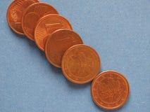 1 pièce de monnaie de cent, Union européenne, Allemagne avec l'espace de copie Photographie stock libre de droits