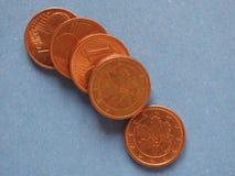 1 pièce de monnaie de cent, Union européenne, Allemagne avec l'espace de copie Image stock