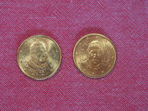 Pièce de monnaie de 50 cents d'EUR Photos stock