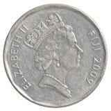 Pièce de monnaie de 50 cents de Fijian Photo libre de droits