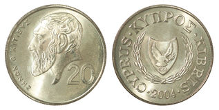 Pièce de monnaie de cents de la Chypre Photographie stock libre de droits