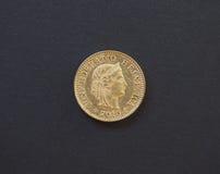 pièce de monnaie de 5 cents, Suisse Images libres de droits