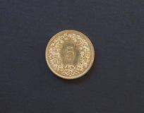pièce de monnaie de 5 cents, Suisse Photo libre de droits
