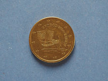 pièce de monnaie de 50 cents, Union européenne, Chypre Photos libres de droits
