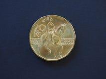 pièce de monnaie de 20 couronnes, République Tchèque Photos stock