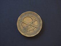pièce de monnaie de 20 couronnes, République Tchèque Images stock