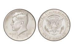 Pièce de monnaie de demi-dollar Images libres de droits
