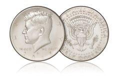 Pièce de monnaie de demi-dollar Photographie stock