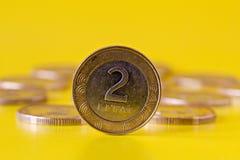 Pièce de monnaie de deux litas Image stock