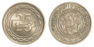 Pièce de monnaie de dinar de 25 Bahreinites Image libre de droits