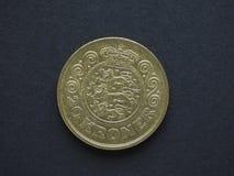 Pièce de monnaie de DKK de la couronne 20 danoise images libres de droits