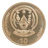 Pièce de monnaie de franc de Rwanda Photo stock