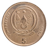 Pièce de monnaie de franc de Rwanda Image stock