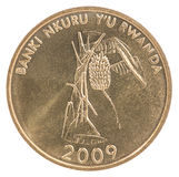 Pièce de monnaie de franc de Rwanda Photographie stock libre de droits