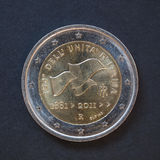 Pièce de monnaie de l'euro 2 d'Italie Photographie stock