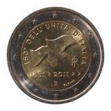 Pièce de monnaie de l'euro 2 d'Italie Photo stock