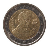 Pièce de monnaie de l'euro 2 d'Italie Photographie stock libre de droits