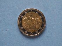 pièce de monnaie de l'euro 2, Union européenne Photos libres de droits