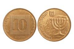 Pièce de monnaie de l'Israël Image stock