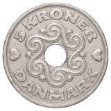 pièce de monnaie de la couronne 5 danoise photo stock
