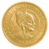 pièce de monnaie de la couronne 10 danoise images stock
