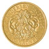 pièce de monnaie de la couronne 10 danoise photos libres de droits