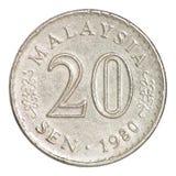 Pièce de monnaie de la Malaisie Photos libres de droits