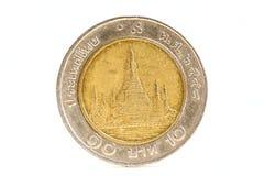 Pièce de monnaie de la Thaïlande Photographie stock