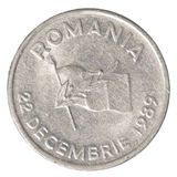 Pièce de monnaie de Lei de 10 Roumains photo stock