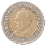 Pièce de monnaie de Lire turque Photo libre de droits