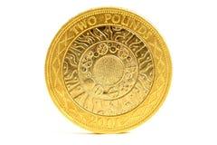 Pièce de monnaie de livre des Anglais deux Photo libre de droits
