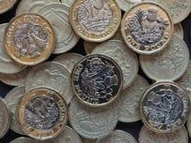 pièce de monnaie de 1 livre, Royaume-Uni Photo libre de droits