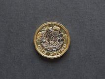 pièce de monnaie de 1 livre, Royaume-Uni Image libre de droits