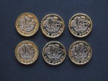 pièce de monnaie de 1 livre, Royaume-Uni Images stock
