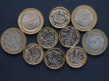 pièce de monnaie de livre 2, Royaume-Uni Images libres de droits
