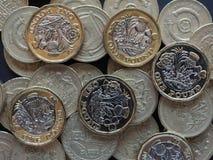 pièce de monnaie de 1 livre, Royaume-Uni Images libres de droits