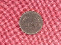 1 pièce de monnaie de mark, Allemagne Image libre de droits