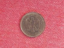 1 pièce de monnaie de mark, Allemagne Images libres de droits