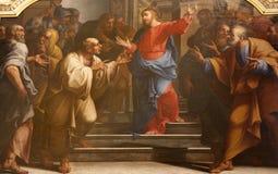 Pièce de monnaie de Milan - de Jésus et de Rome Photos libres de droits