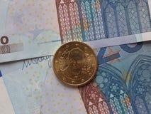 Pièce de monnaie de pape Francis I Image stock