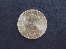 Pièce de monnaie de pape Francis I Photo stock