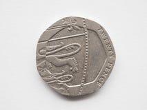 Pièce de monnaie de 20 penny Photos stock