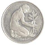 pièce de monnaie de penny de la marque 50 allemande Photographie stock