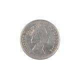 Pièce de monnaie de penny des Anglais dix Photographie stock libre de droits