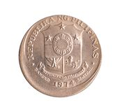 Pièce de monnaie de peso d'erreur Image libre de droits