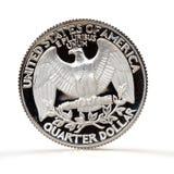 Pièce de monnaie de quart de dollar Photographie stock libre de droits