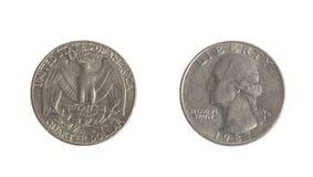 Pièce de monnaie de quart de dollar US Photo libre de droits