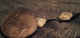 Pièce de monnaie de République du Portugal Photos stock